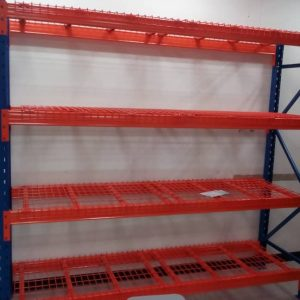 HEAVY DUTY RACKING SYSTEM WITH WIRE MESH